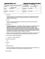 Creation of IQ Protocols - SOP Sample Excerpt